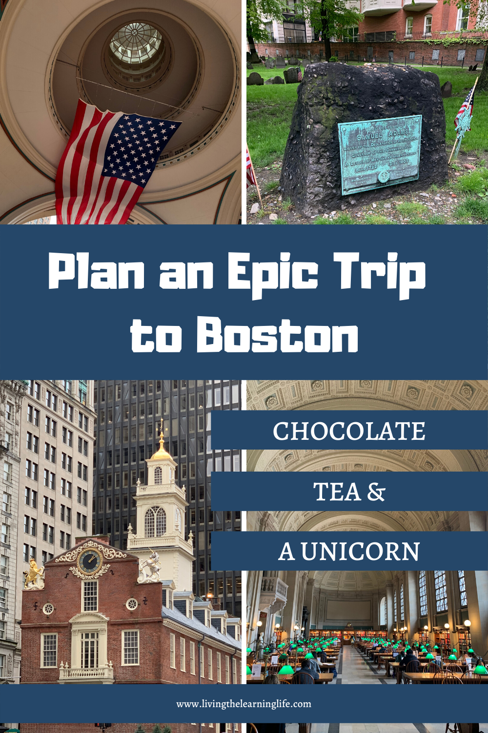 travel and learn activities in Boston chocolate tea and a unicorn