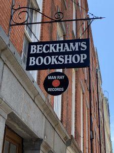 Beckham's Bookshop sign