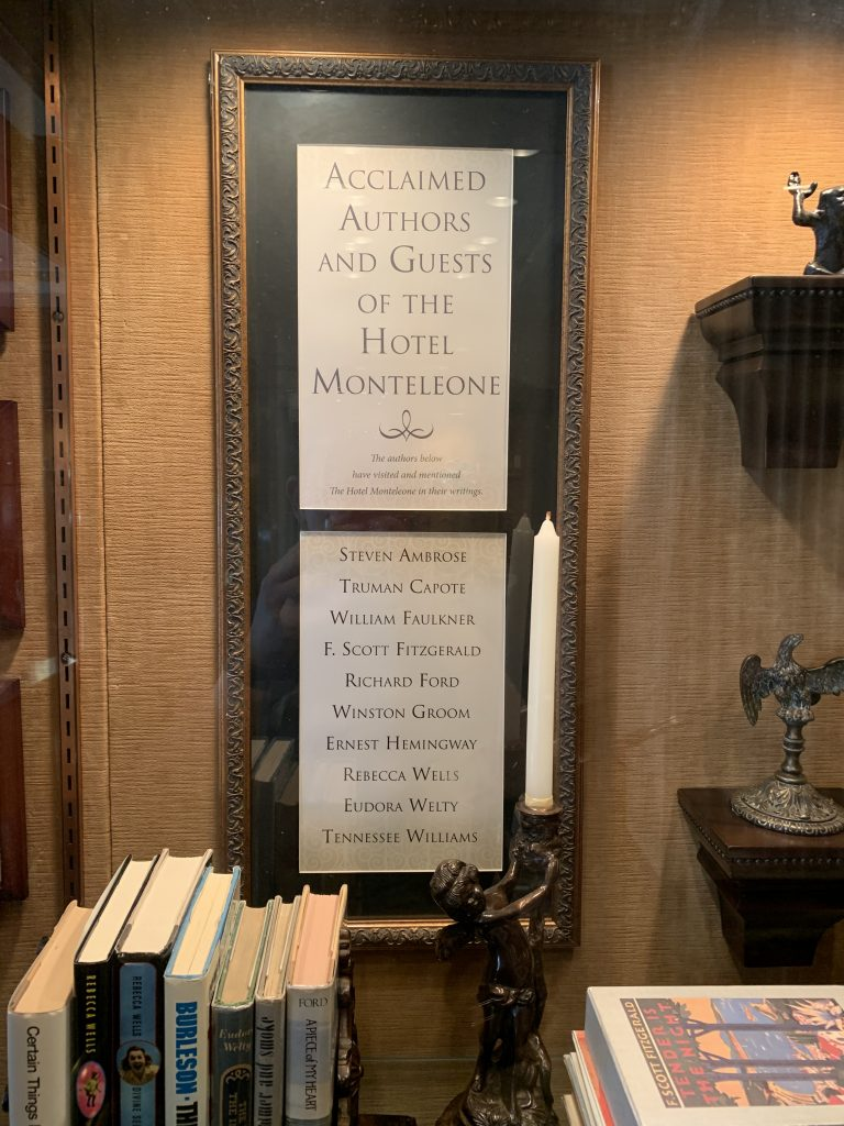 literary guest list for Hotel Monteleone in New Orleans