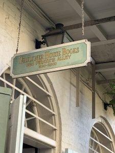 Faulkner House Books sign
