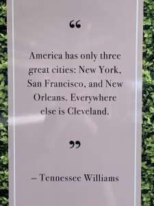 Tennessee Williams quote about New Orleans