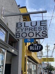 Blue Cypress Books sign