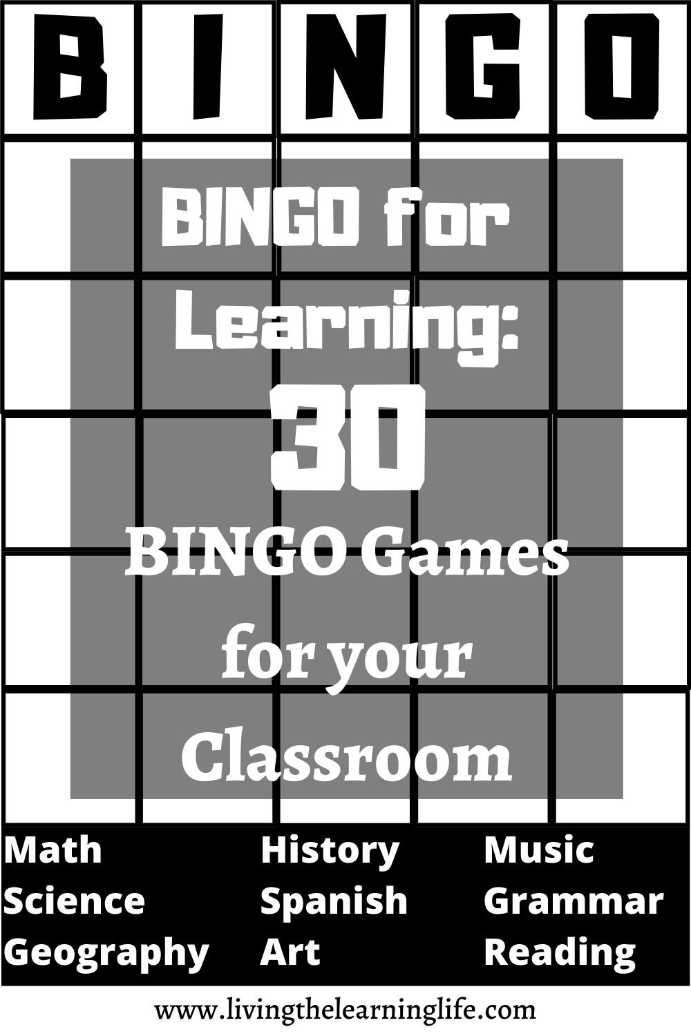 bingo games for learning