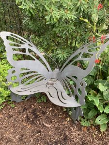 butterfly bench botanical garden