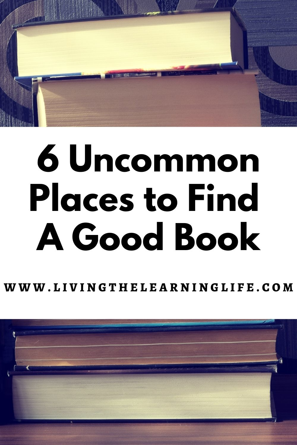 uncommon places to find a good book pin