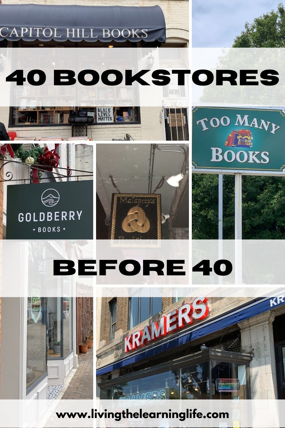 bookstores in a lifetime 40 before 40